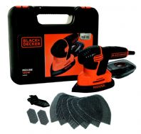 Black & Decker 120W Next Generation Mouse® Sander - With Kitbox and 9 Accessories